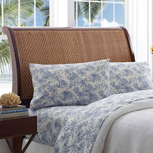 Tommy Bahama Pen and Ink Palm Queen Sheet Set in Blue