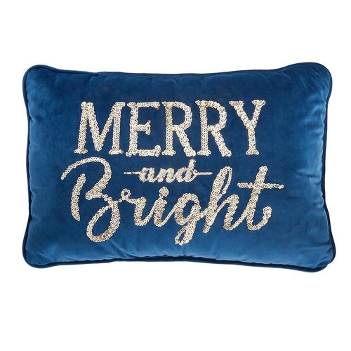 MEMBER'S MARK HOLIDAY ACCENT PILLOW - MERRY AND BRIGHT, 22 In x 14 In