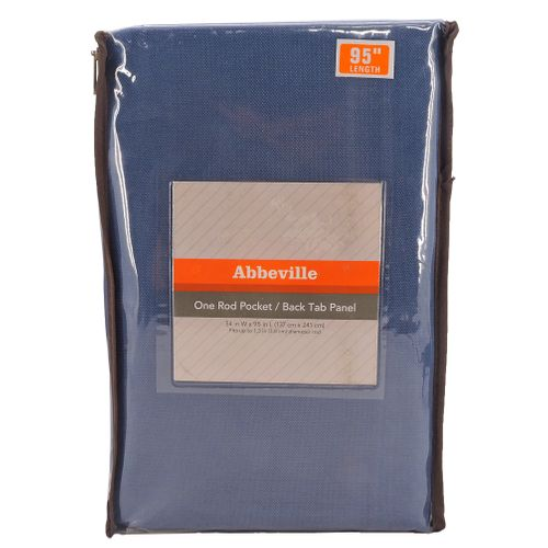 ABBEVILLE 95-INCH ROD POCKET/BACK TAB WINDOW CURTAIN PANEL IN BLUE