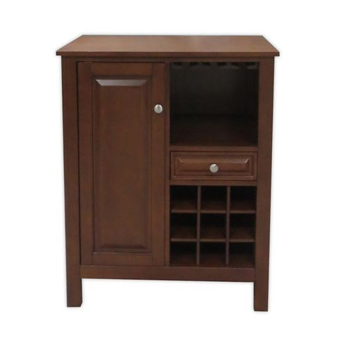 LONG VALLEY NO TOOLS WINE CABINET IN WALNUT