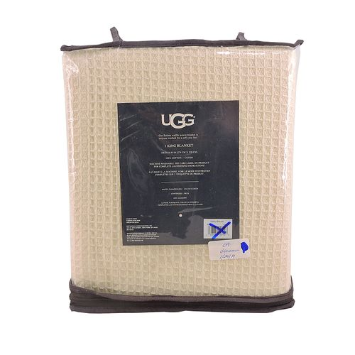 UGG(R) SOLANA WASHED COTTON KING THROW BLANKET IN SNOW WHITE