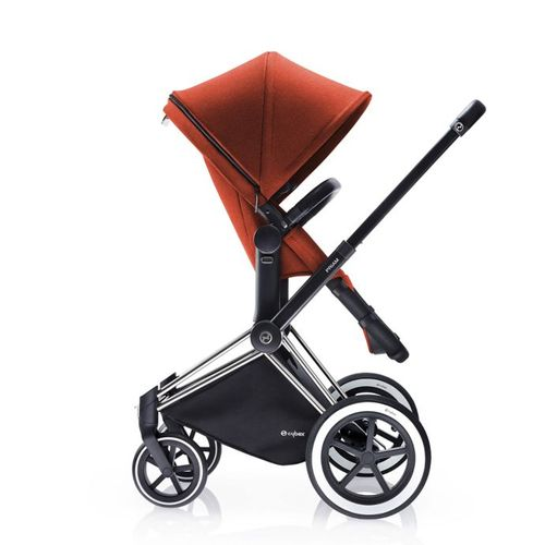 CYBEX PLATINUM PRIAM FRAME WITH ALL TERRAIN WHEELS IN CHROME
