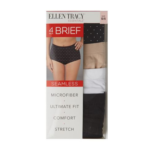 1608657f0ced Ellen Tracy Essentials 4-pack Seamless Brief In Black Dot, Size XL
