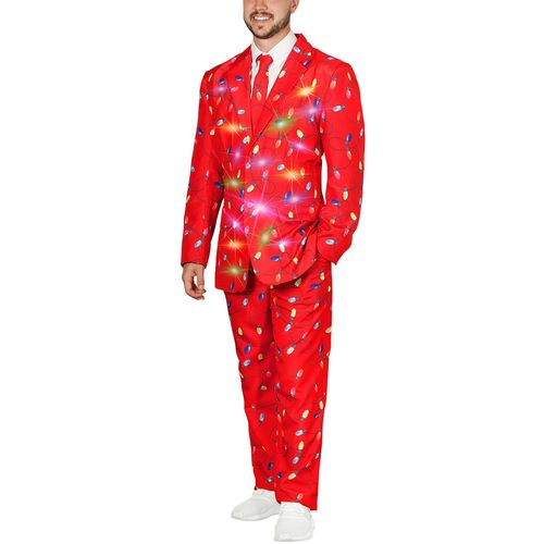 Life of The Party LED Light Up 3-Piece Holiday Party Suit - Merry Bright Lights