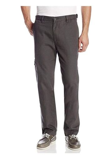 Dockers Pacific Collection Mens Comfort Cargo Classic Fit Pants (42W x 30L, Steelhead Gray)