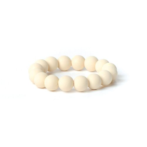 BUMKINS(R) TONDO SILICONE TEETHING BRACELET IN CREAM