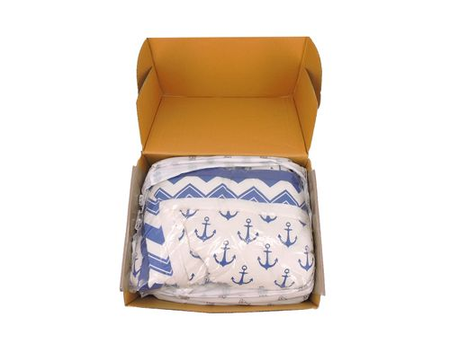 THE PEANUT SHELL(R) ANCHOR 4-PIECE CRIB BEDDING SET IN WHITE/NAVY